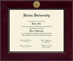union university century gold engraved diploma frame in cordova  union university diploma frame