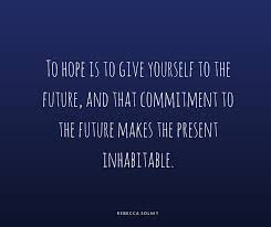 Quotes Of Hope Best 48 Quotes About Hope From Rebecca Solnit Christine Reyes Medium