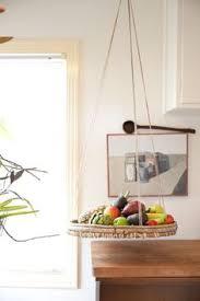 Hanging fruit basket. Home of Serena Mitnik-Miller, Photos by Molly  DeCoudreaux via