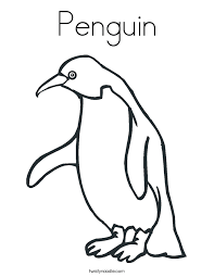 Small Picture Penguin Coloring Page Twisty Noodle