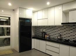 condo kitchen designs. dry kitchen design for condo in cheras. project by: iiko concept designs a