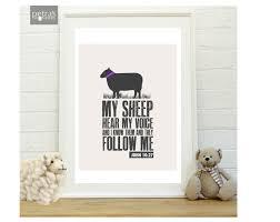 metal sheep wall art