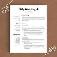 Writting A Modern Resume This Modern Resume Template In Black And Gold Lets You Stand Out And