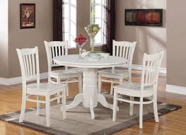 3 pc round kitchen table with 2 dining slatted back chairs
