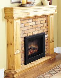 alluring unpolished hickory wood fireplace mantel with black modern electric fireplaces built in electric fireplace
