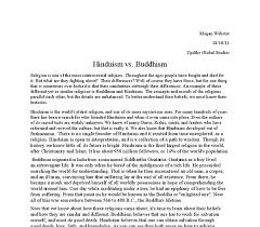 hinduism vs buddhism gcse religious studies philosophy  document image preview