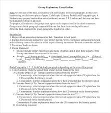 essay outline sample example format  group explanatory essay outline format