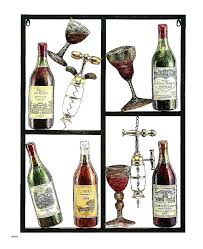 wine metal wall art 3 piece modern kitchen canvas paintings red wine cup bottle