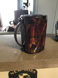 i made a wooden coffee mug