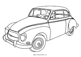 Cars New Vintage Car Coloring Pages - creativemove.me