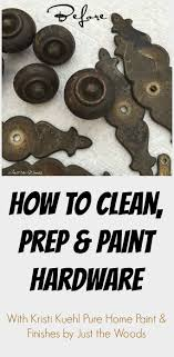 How to Clean and Paint Hardware with Just the Woods