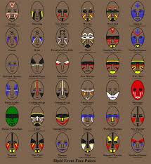 Face War Paint Designs Illph Indian Face Paints Native American Face Paint