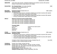 Job Resume Template Resume Template Shocking Job Resumes Examples And Samples 95