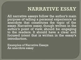 generally there are four major types of essays that depend on the  2 all narrative