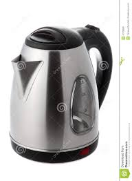 modern electric kettle stock photo  image