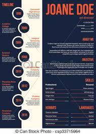 Modern Resume Cv Template Beginning With Timeline Modern Resume Cv