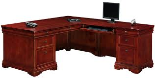 executive l shaped desk with right return