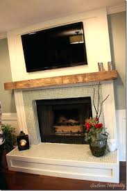 wooden mantel over brick fireplace wood mantels mantle tile wooden mantel over brick fireplace
