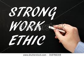 strong work ethic stock photos royalty  images amp vectors  hand writing the phrase strong work ethic in white text on a blackboard as a reminder