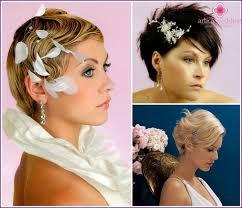Nevěsta účes Pro Krátké Vlasy Fotografiích
