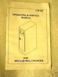 Antares Vending Machine Owners Manual Inspiration ANTARES DOLLAR BILL Changer CM 48 Operation Manual 4848 PicClick