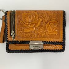 xylavintage 14 days ago yonkers united states vintage mexican tooled leather wallet