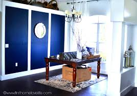 bathroom dark navy blue bathroom walls wall home decor pinterest