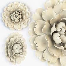 ivory large flower wall decor 3d model