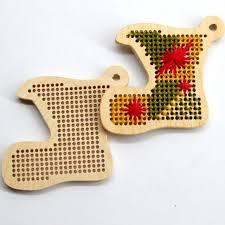 free 50 pcs boot laser cut wood cross stitch kit blank wood craft pendant