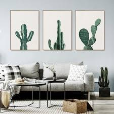 2018 2018 new cactus wall paintings landscape art canvas print painting kitchen living room wall pictures home decoration painting from household 2
