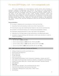 Sample Resume For Software Engineer With 2 Years Experience Qtp Sample Resume For Software Testers Awesome Sample Resume For 2