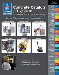 Sherwin Williams Concrete Catalog 2017 2018 By Sherwin