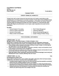 Senior Financial Manager Resume