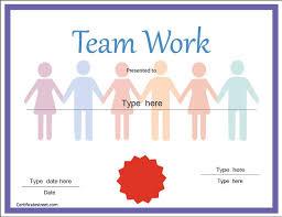 Teamwork Certificate Templates Teamwork Award Classroom Certificates Pinterest Award
