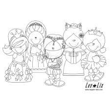 Leuk Voor Kids De Vijf Prinsesjes Kleurplaten