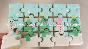 Puzzle Cake Designs How To Make A Christmas Cookie Jigsaw Puzzle Tutorial