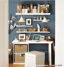 this pottery barn picture gave me an idea for designing my new office in my new house one idea is to have 2 white walls and 2 blue walls blue office walls