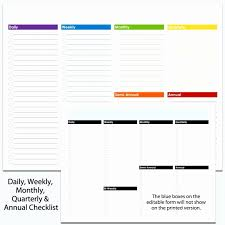 Daily Checklist Planner Daily Checklist Template Inspirational Daily Checklist Template For