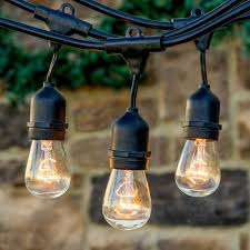 48ft 15 sockets vintage edition outdoor festoon string lights with 18pcs s14 nostalgic edison bulbs