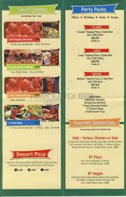 menu of round table pizza lakeport ca