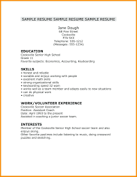 Simple High School Resume Examples Resume Simple Resume Examples How To Write Word Of Resumes