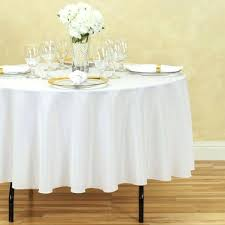 90 inch round white tablecloth lace in polyester