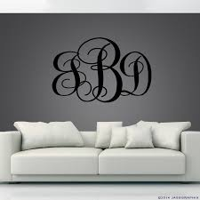 monogram wall decals monogram wall decals black monogrammed decal