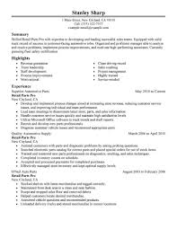Parts Of A Resume Best Retail Parts Pro Resume Example LiveCareer 2