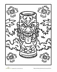 Small Picture Tiki Coloring Page Worksheets Ward christmas party and Embroidery