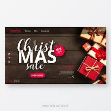 Free Christmas Website Templates Christmas Sale Website Template Vector Free Download