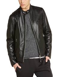schott nyc men s lc949d leather long sleeve jacket