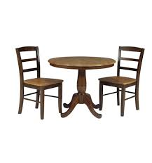 36 inch classic round table cinammon espresso with madrid chairs