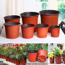 <b>100 Pieces Plastic</b> Garden Nursery Flower Pot Flower Pot Seedling ...