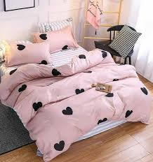 bright pink hearts comforter twin